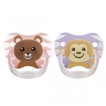 Set de Chupetes Dr.Brown's Etapa 2 Oso más Mono 6 a 12 meses