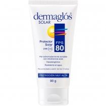 Protector Solar Dermaglós Crema FPS80 90Gr