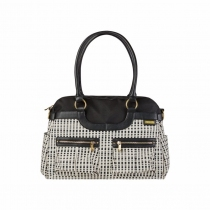 Bolso JJ Cole Satchel Black and Cream