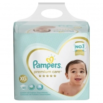 Pampers Premium Care Bag XG (11 a 15 Kg) - x60