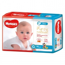 Huggies Natural Care Ellos G (9 a 12.5 Kg) - x56