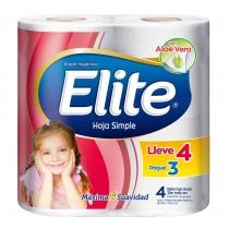 Papel Higiénico Elite Hoja Simple 30MTS x4