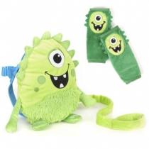 Mochila Infanti Con Arnés Monstruo Verde