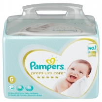 Pampers Premium Care Bag G (9 a 13 Kg) - x68