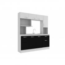 Mueble de cocina Nápoles Blanco/Negro