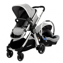 Coche Travel System Carestino Deluxe V2 Gris