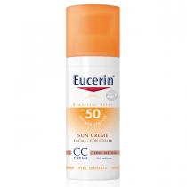 Protector Solar Eucerin Crema con Color FPS50 50ML