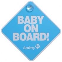 Cartel Safety 1st. Baby on Board Azul
