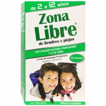 Piojicidas Zona Libre Crema de Enjuague Protectora